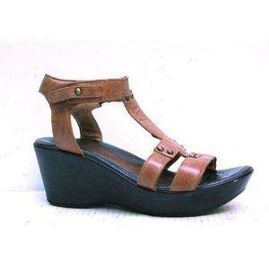 NAOT sandals t strap wedged FLIRT womens shoes sz